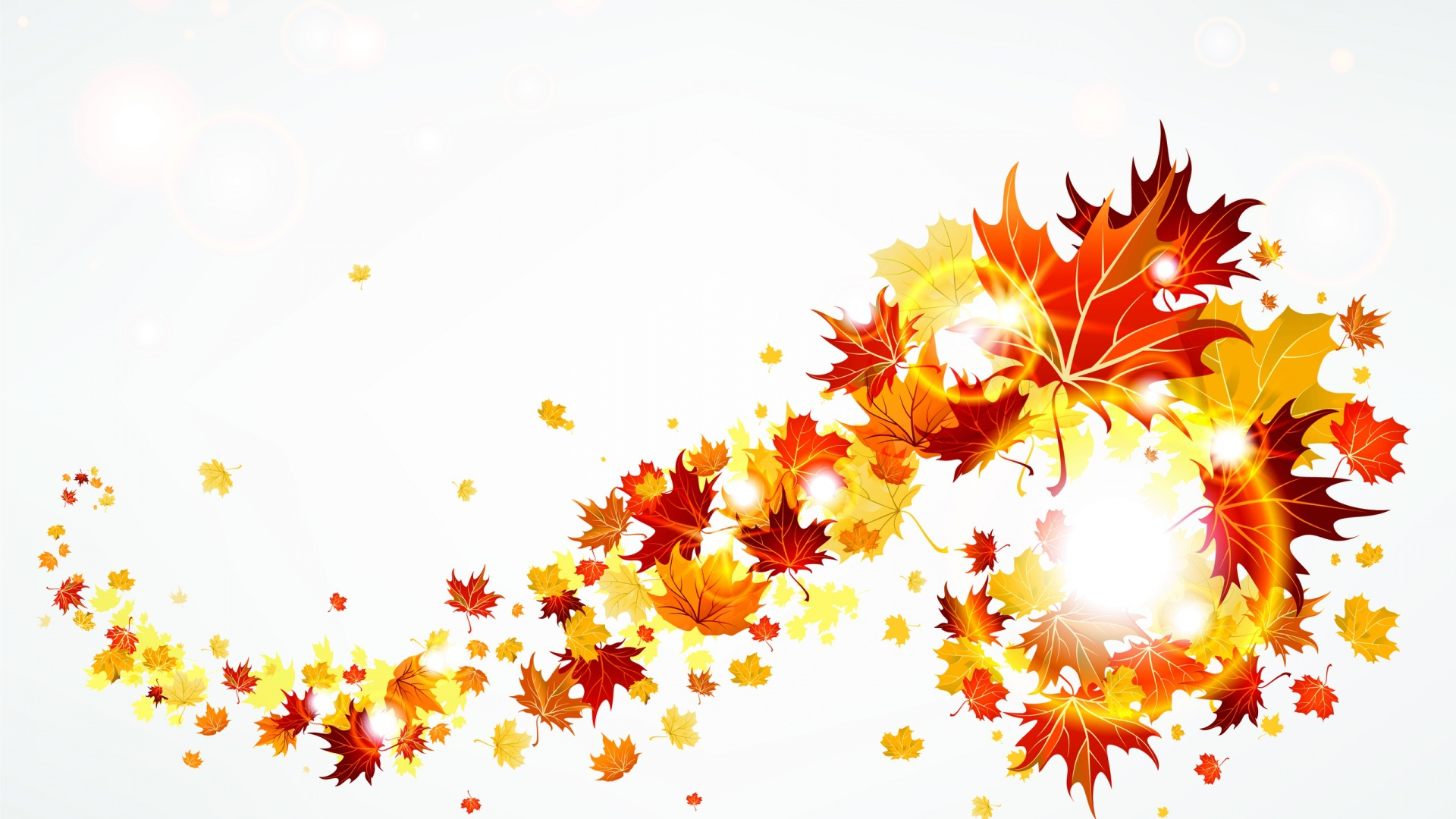 листья летят