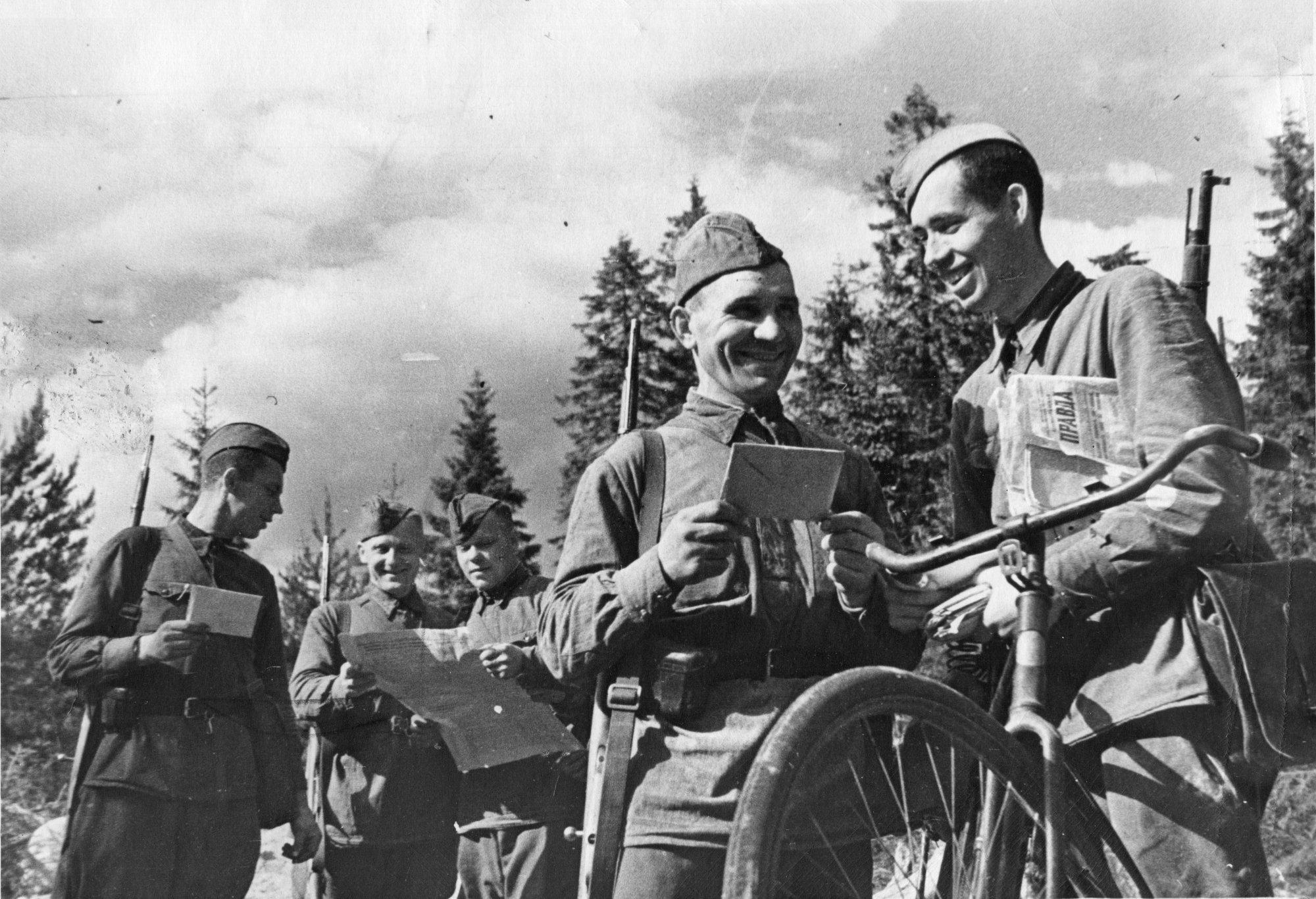 солдаты письма