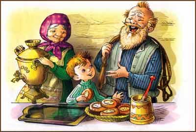 Рассказ Дед, баба и Олёша. Ю. Коваль.